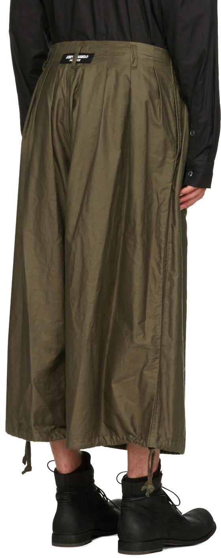 Yohji Yamamoto Cotton Green Balloon Trousers for Men
