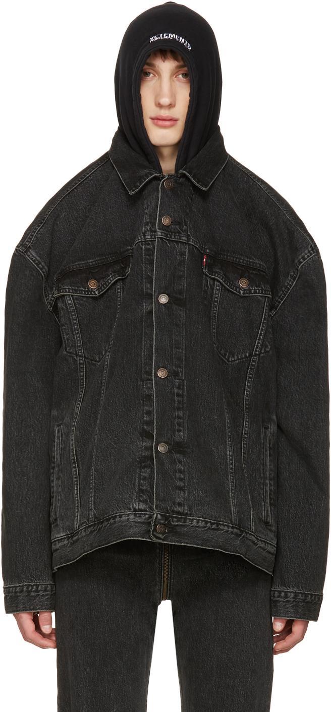 Lyst Vetements Black Levi S Edition Oversized Denim Jacket In