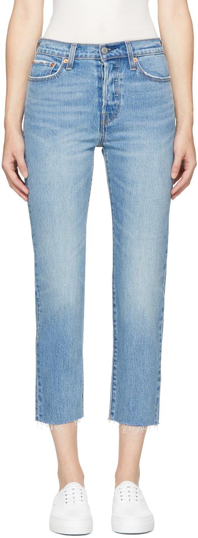 levi 39 s blue wedgie straight jeans in blue lyst. Black Bedroom Furniture Sets. Home Design Ideas