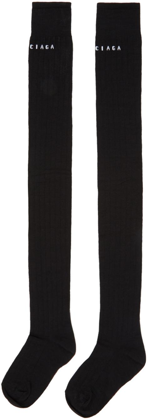 Balenciaga Wool Black Extra Long Logo