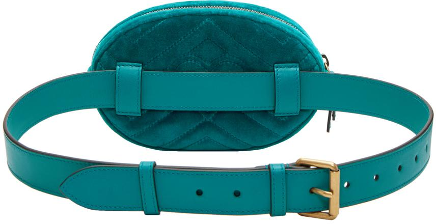9012edc6d6435e Gucci Belt Bag Velvet Blue | Casper's & Runyon's Shamrocks | Nook