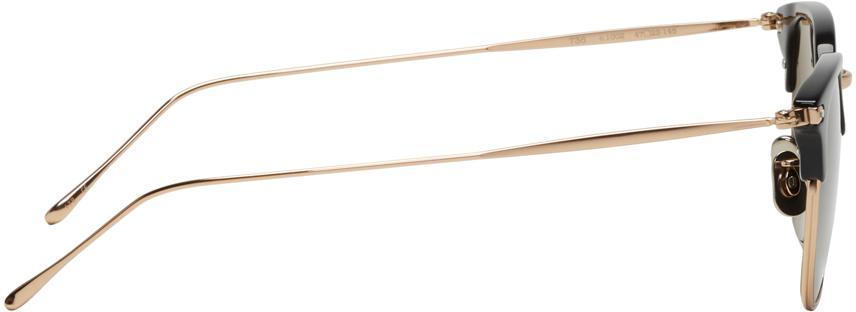 Eyevan 7285 Gold & Black Model 736 Sunglasses for Men