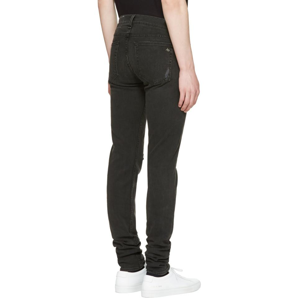 Rag & Bone Denim Black Standard Issue Fit 1 Jeans for Men