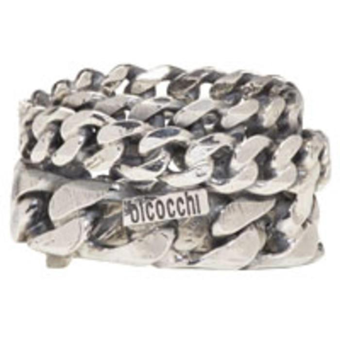 Emanuele Bicocchi Silver Rigid Chain Ring 7Aa4l1O1I