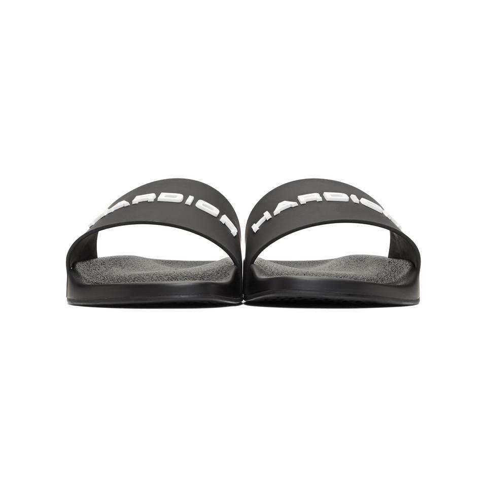 Dior Rubber Sandals in Black for Men - Lyst