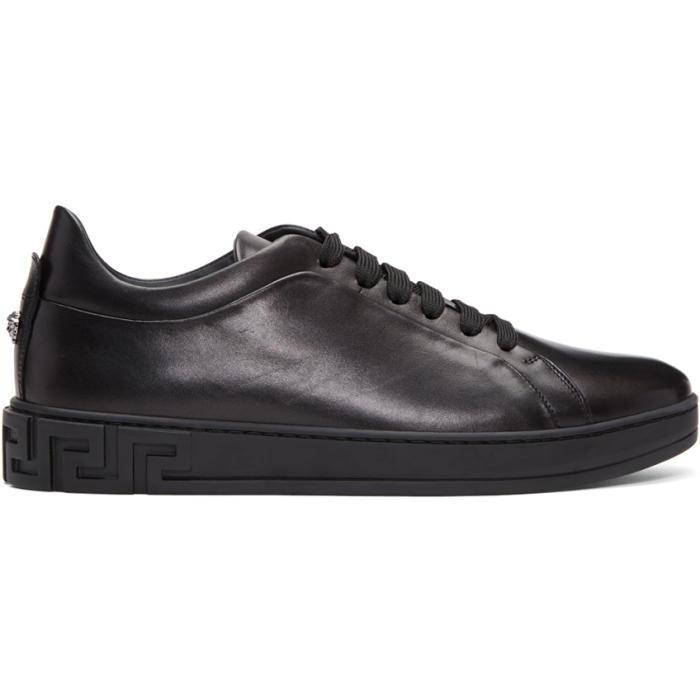 Lyst - Versace Black Medusa Sneakers in Black for Men 218861c585