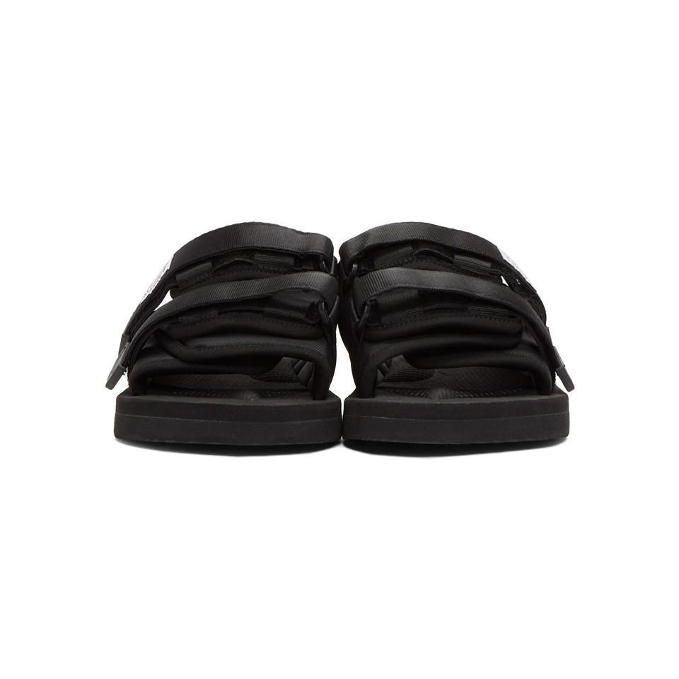 Sandales noires MOTO-Cab Synthétique Suicoke en coloris Noir