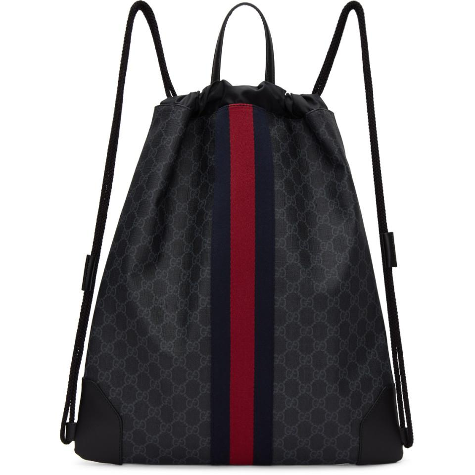 1778ed1ff95f Gucci Courrier Soft Gg Supreme Drawstring Backpack Price- Fenix ...