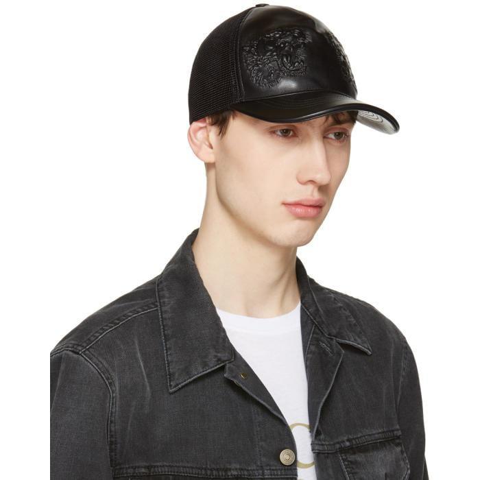 Lyst - Gucci Black Tiger Baseball Cap in Black for Men 94ddba723c7