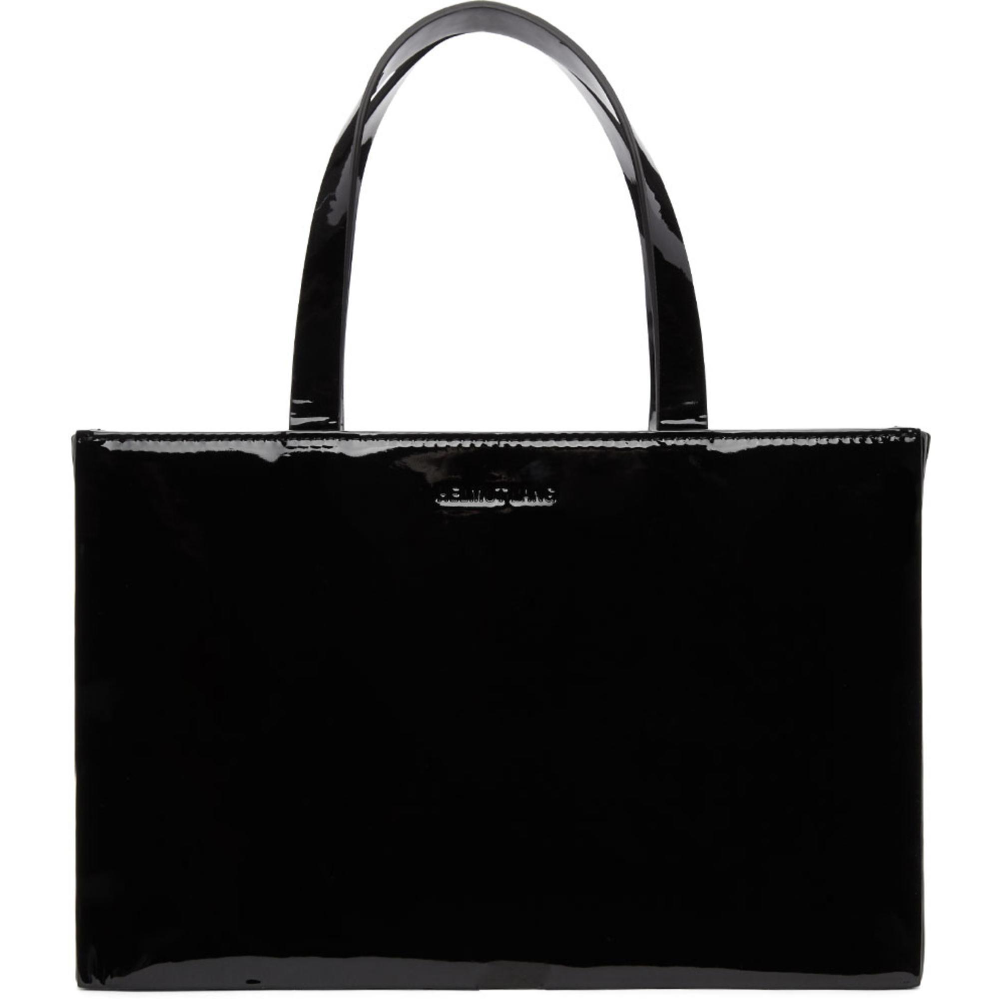 Mini Flap Bag in Black Patent Leather Helmut Lang 6g6TVMPC