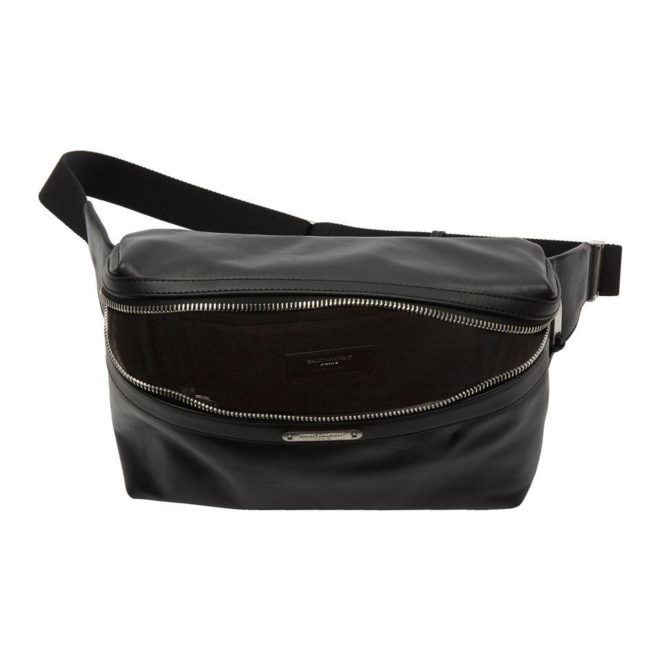 f505adea630d Saint Laurent Black City Belt Bag in Black - Lyst