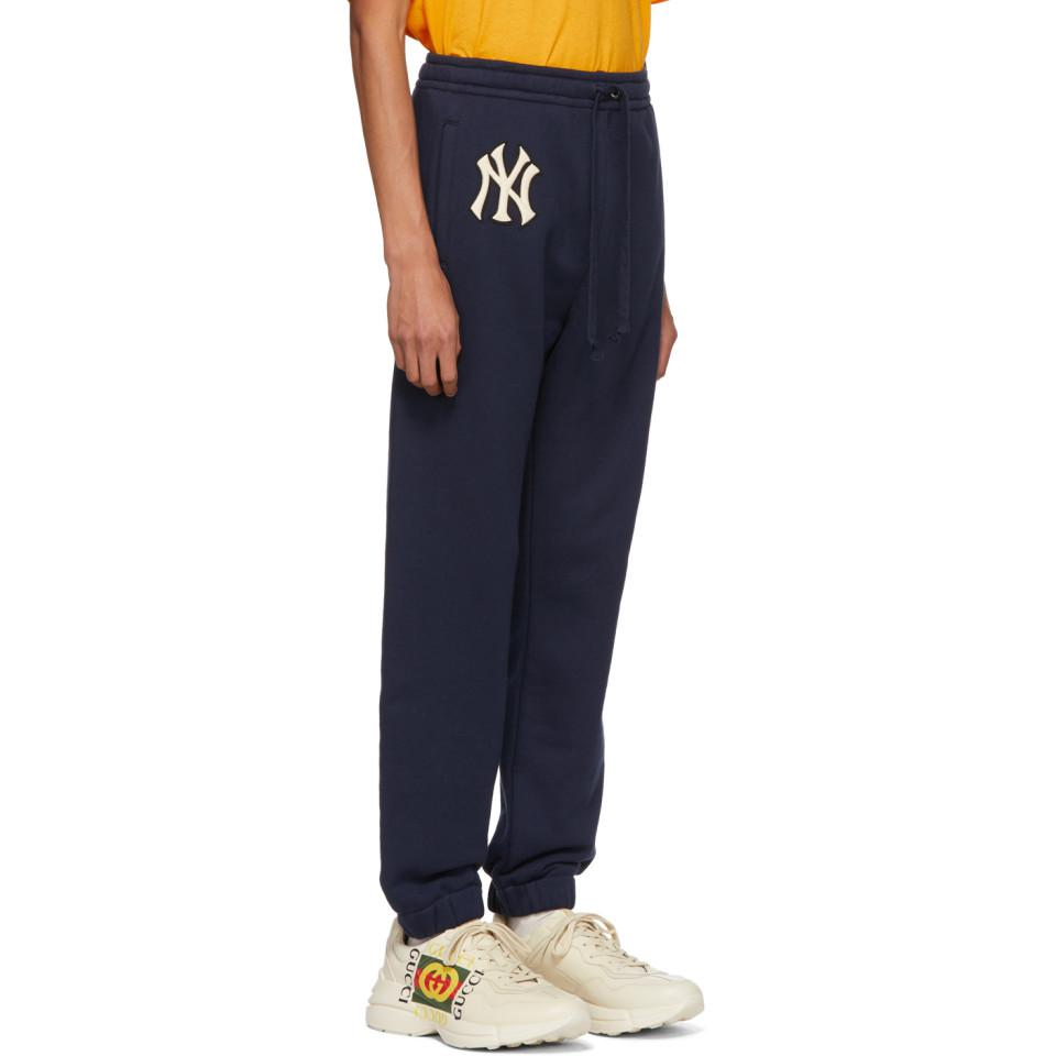 08374d3263d Gucci - Blue Navy Ny Yankees Edition Patch Lounge Pants for Men - Lyst.  View fullscreen