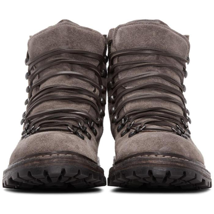 Lyst Officine Creative Taupe Suede Kontra Hiking Boots