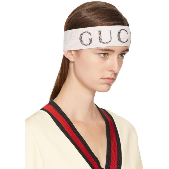 White Logo Headband Gucci ZHcDcP