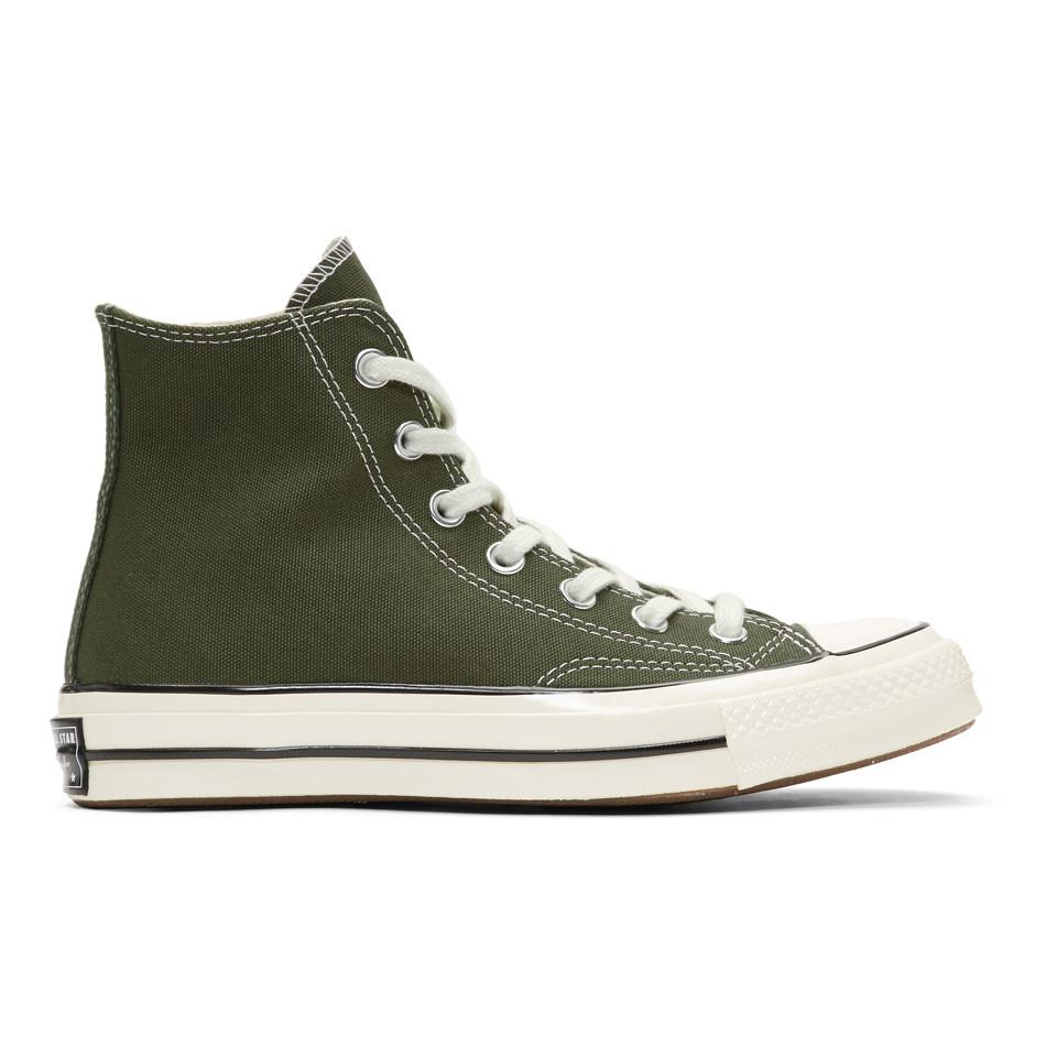 e96debc4ebcf10 Lyst - Converse Green Chuck 70 High Sneakers in Green for Men