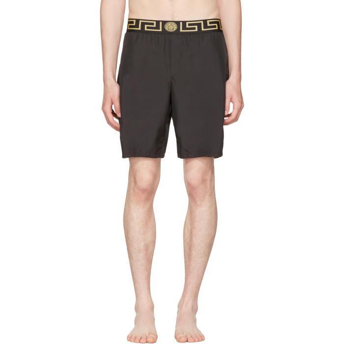 4f01249d48 Versace Black Medusa & Greek Key Swim Shorts for men