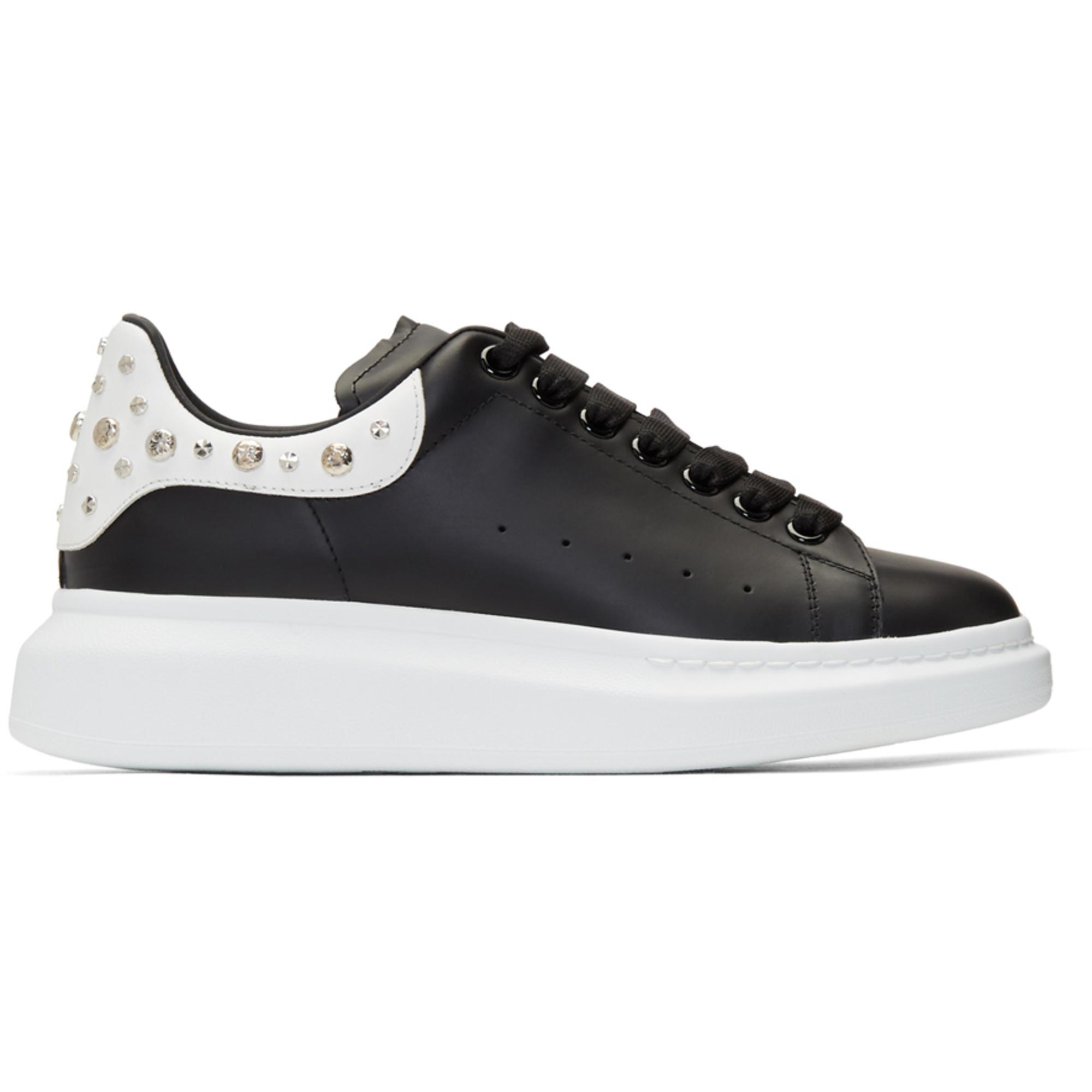 Alexander McQueen Black And White Studded Oversized ...