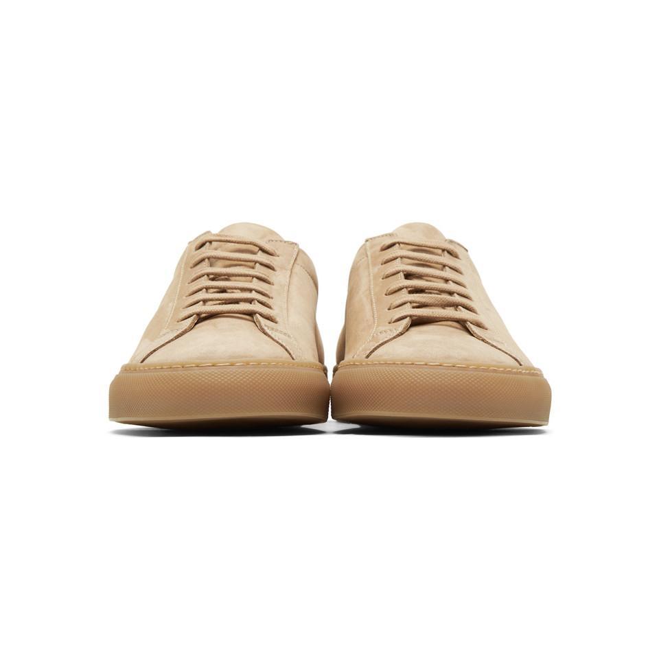 online retailer c1439 1d289 Common Projects - Brown Tan Nubuck Original Achilles Low Sneakers for Men -  Lyst. View fullscreen