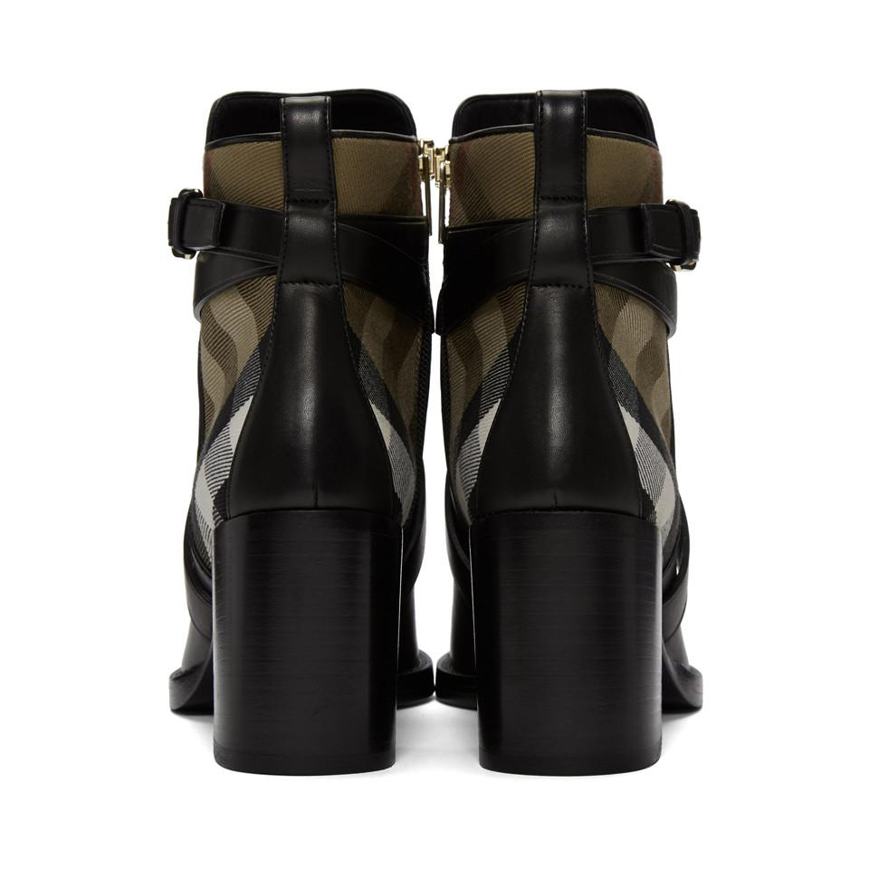 Burberry Leather Vaughan 70 in Black - Lyst