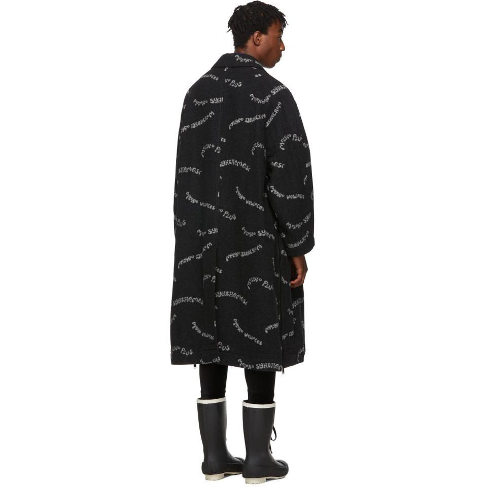 Manteau noir et blanc A Clockwork Orange Moloko Plus Laines Undercover pour homme en coloris Noir zYIO5