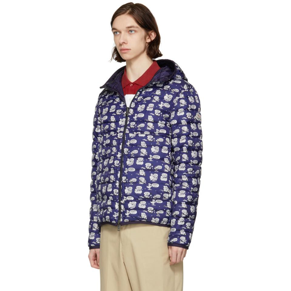 Moncler Synthetic Reversible Navy Down Oise Jacket in Blue for Men