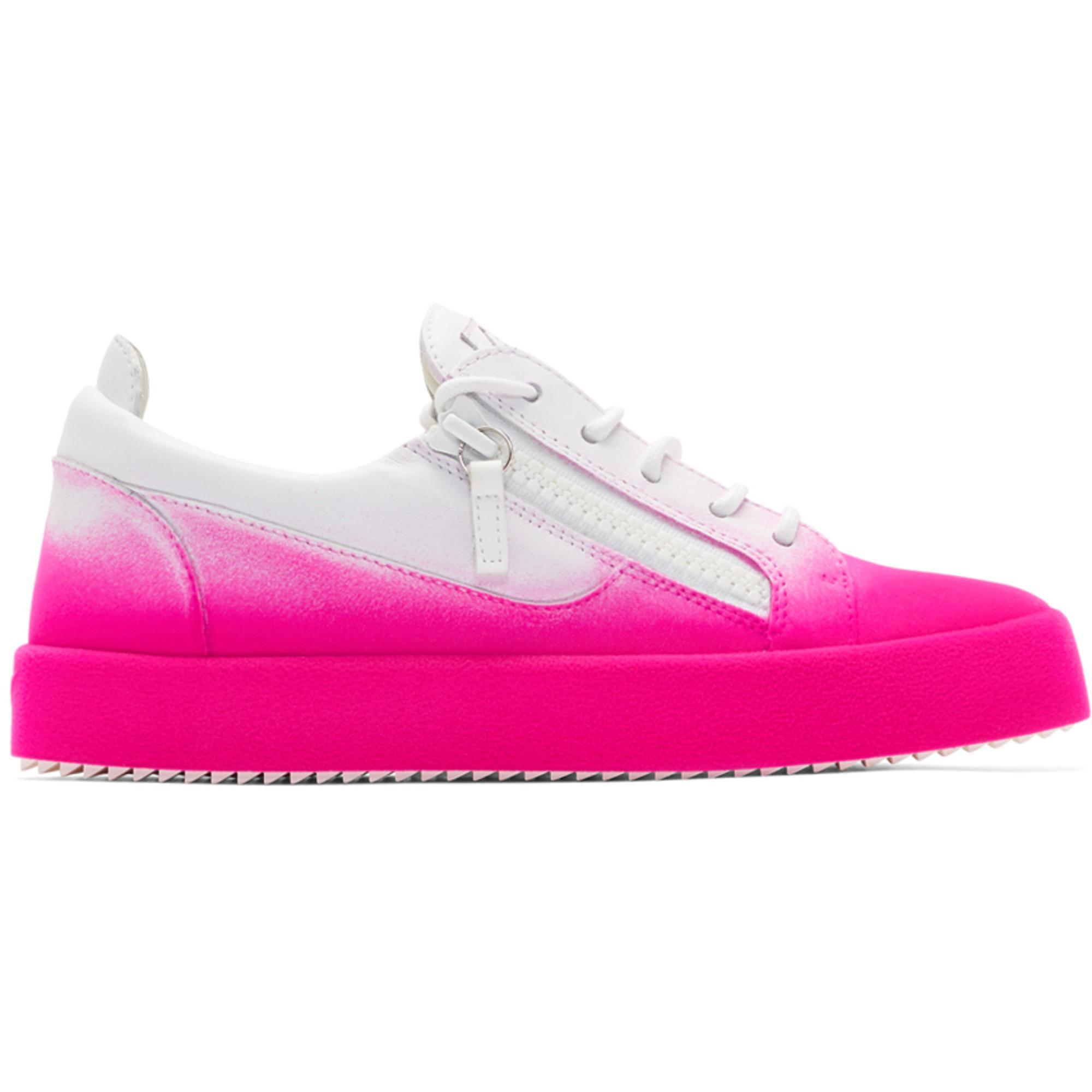 Giuseppe Zanotti White & Orange Flashy May London Sneakers AEDiawA3