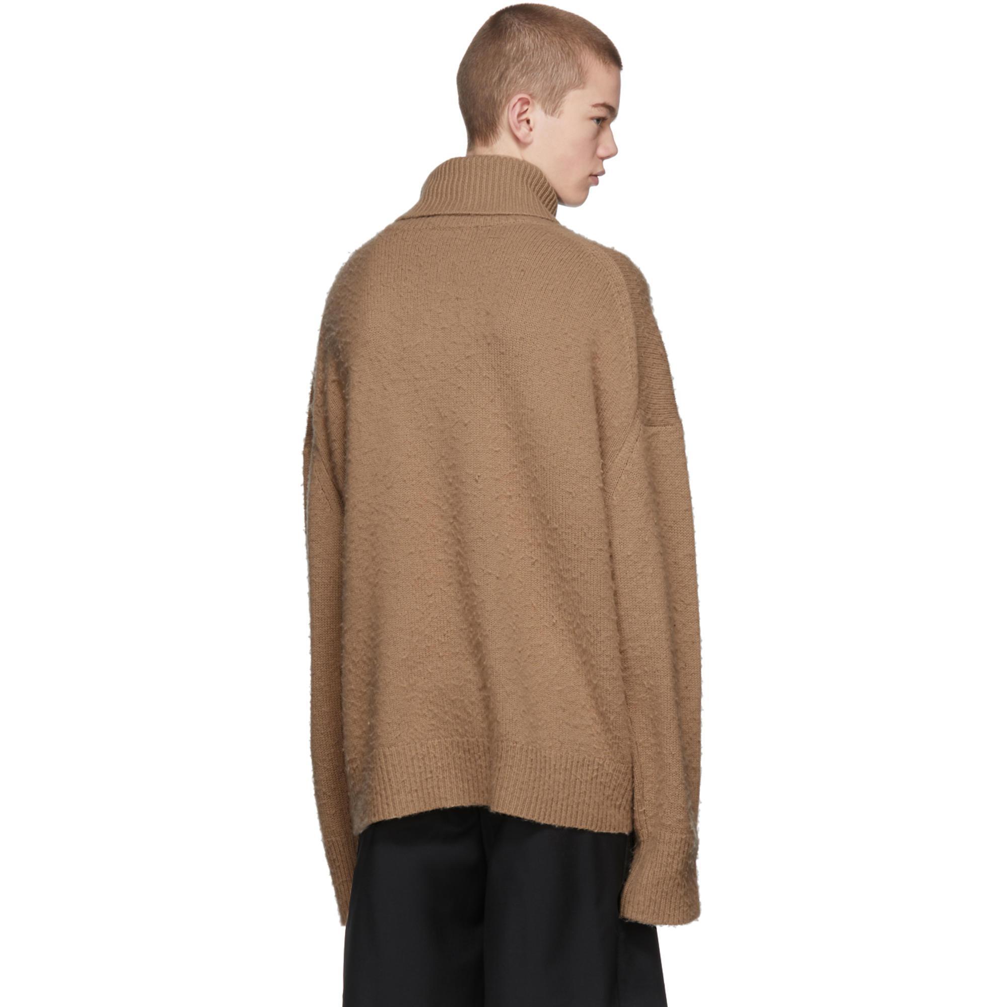 Acne Studios Wool Beige Nyran Turtleneck in Natural for Men