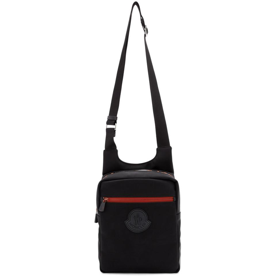 c64ee8b2e6e8 Moncler Black And Red Pascal Bag in Black for Men - Lyst