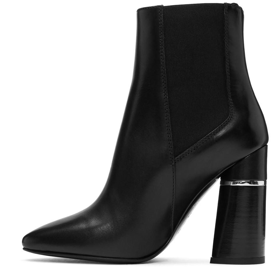 3.1 Phillip Lim Leather Black Drum Chelsea Boots