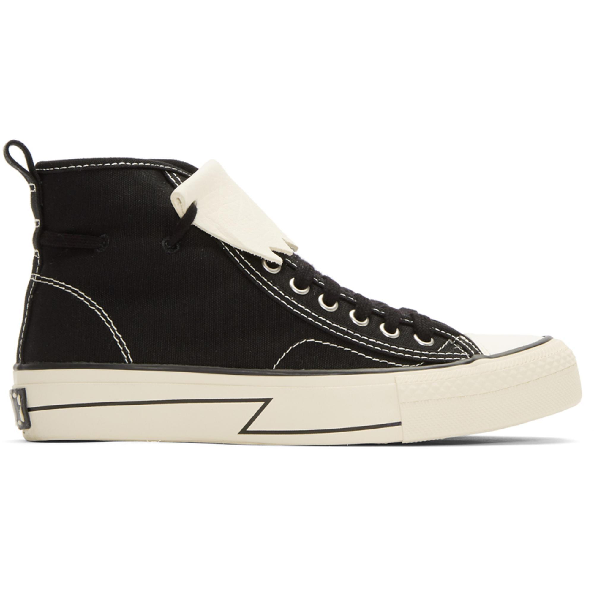 Joshua Sanders Black Skagway Kiltie High-Top Sneakers 7t3nsjs7