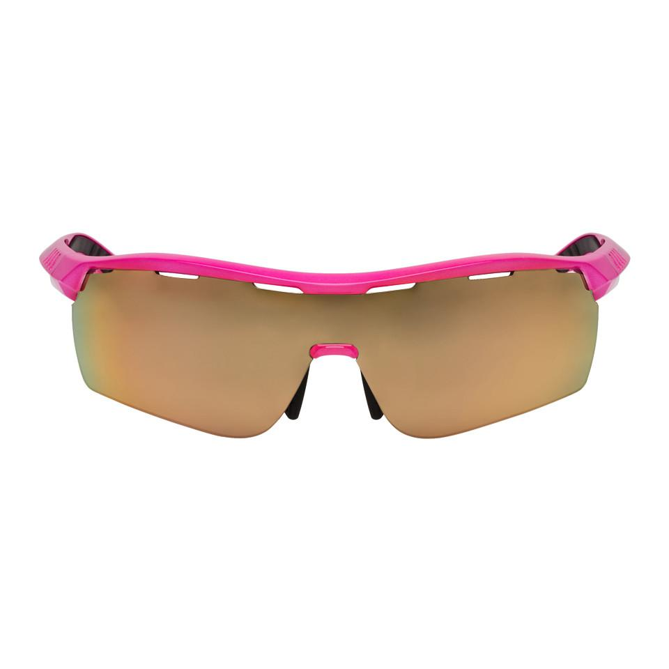 Stella McCartney Pink Runway Shield Sunglasses OMnzkZ2l1