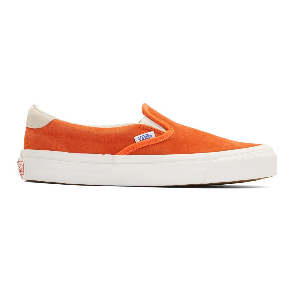 Orange Suede OG 59 LX Slip-On Sneakers Vans zk3ubaF