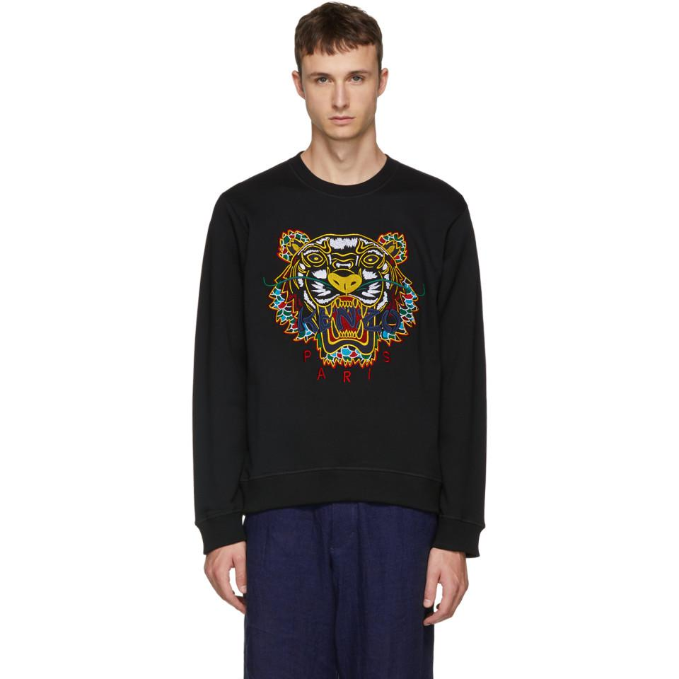 71544022d09 Lyst - KENZO Black Dragon Tiger Sweatshirt in Black for Men