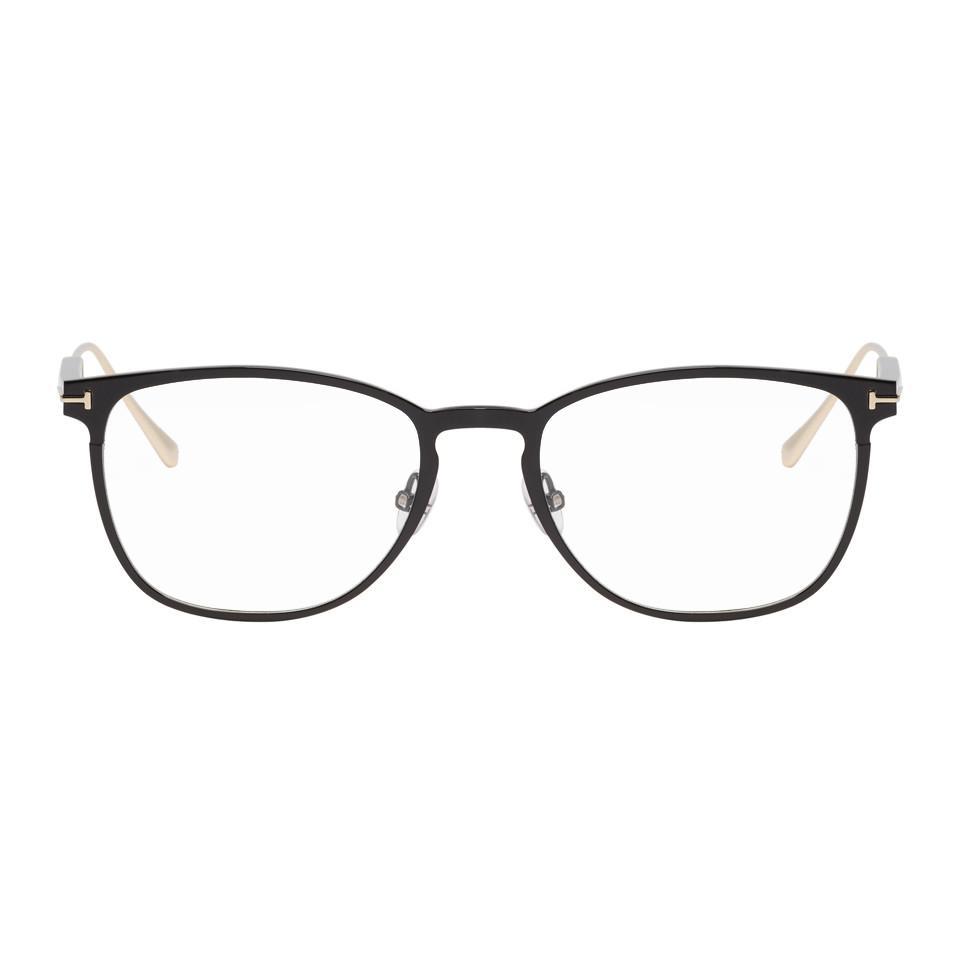 b3e9bf83b6 Lyst - Tom Ford Black Ft5483 Glasses in Black for Men