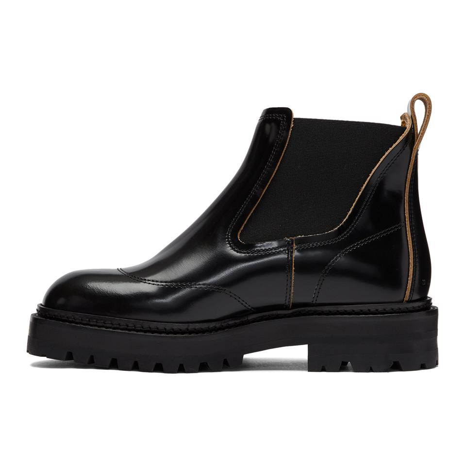 5d9be41553 Lyst - Marni Black Treaded Chelsea Boots in Black for Men