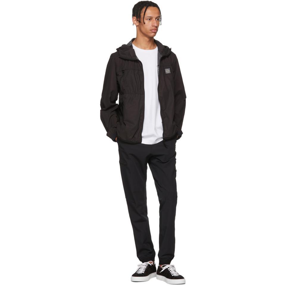 Stone Island Synthetic Black Nylon Hooded Jacket for Men