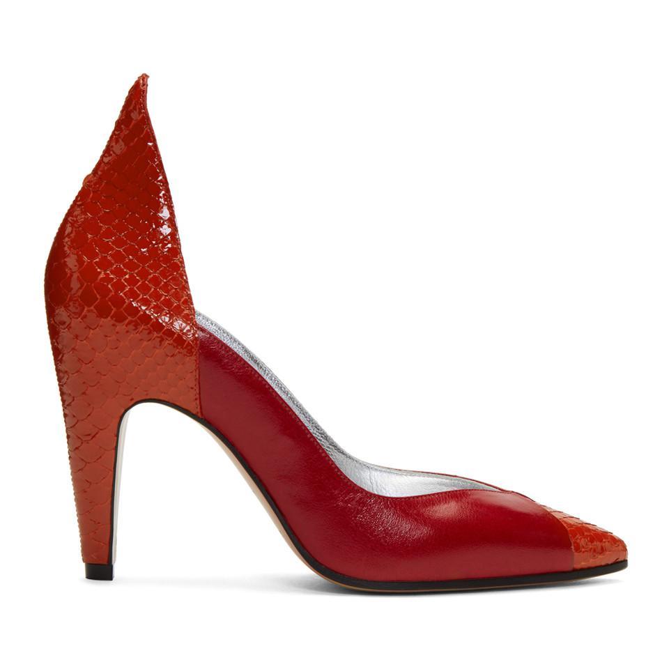 Red Kangaroo and Python Heels Givenchy DSEBVdp