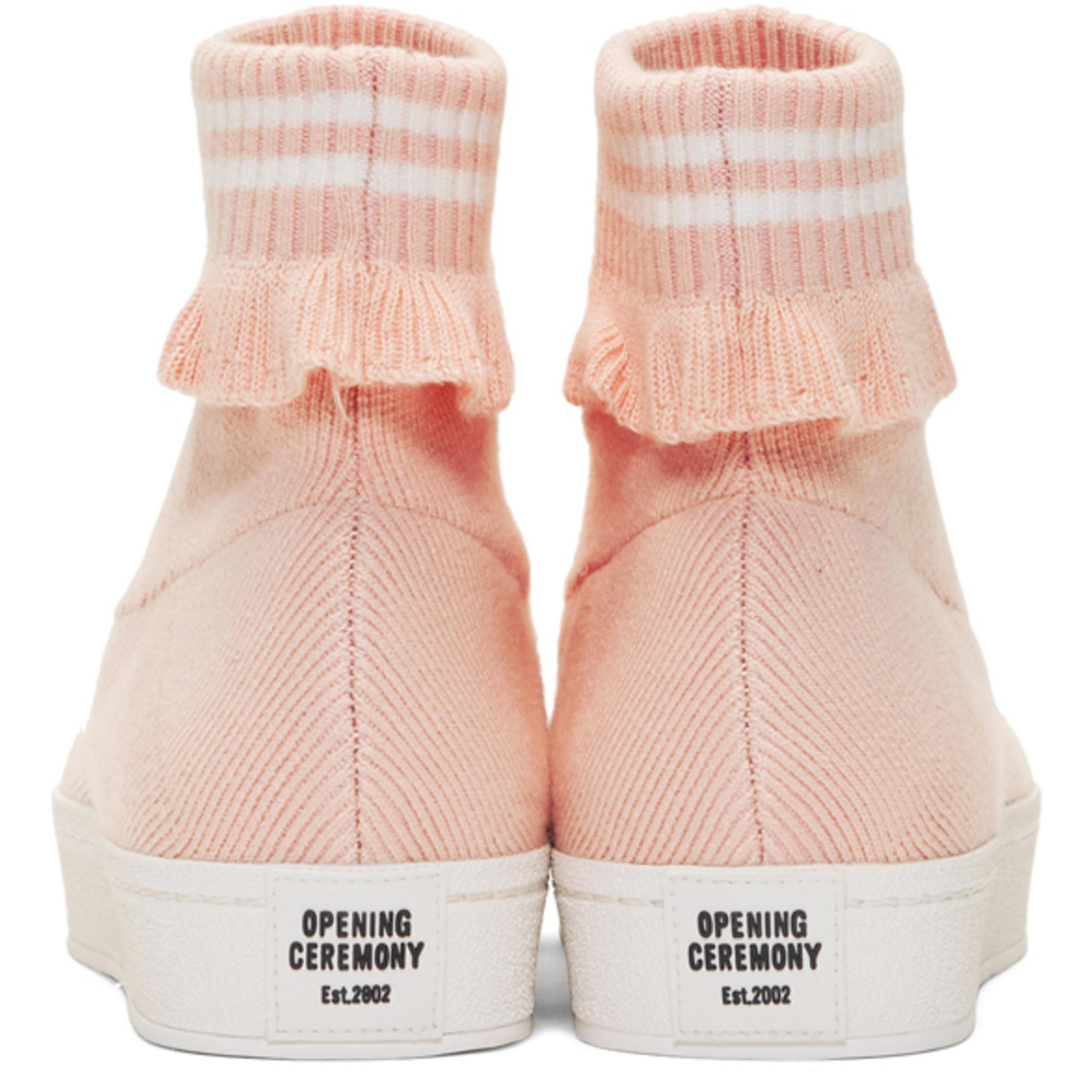 Opening Ceremony Pink Bobby High-top Slip-on Sneakers