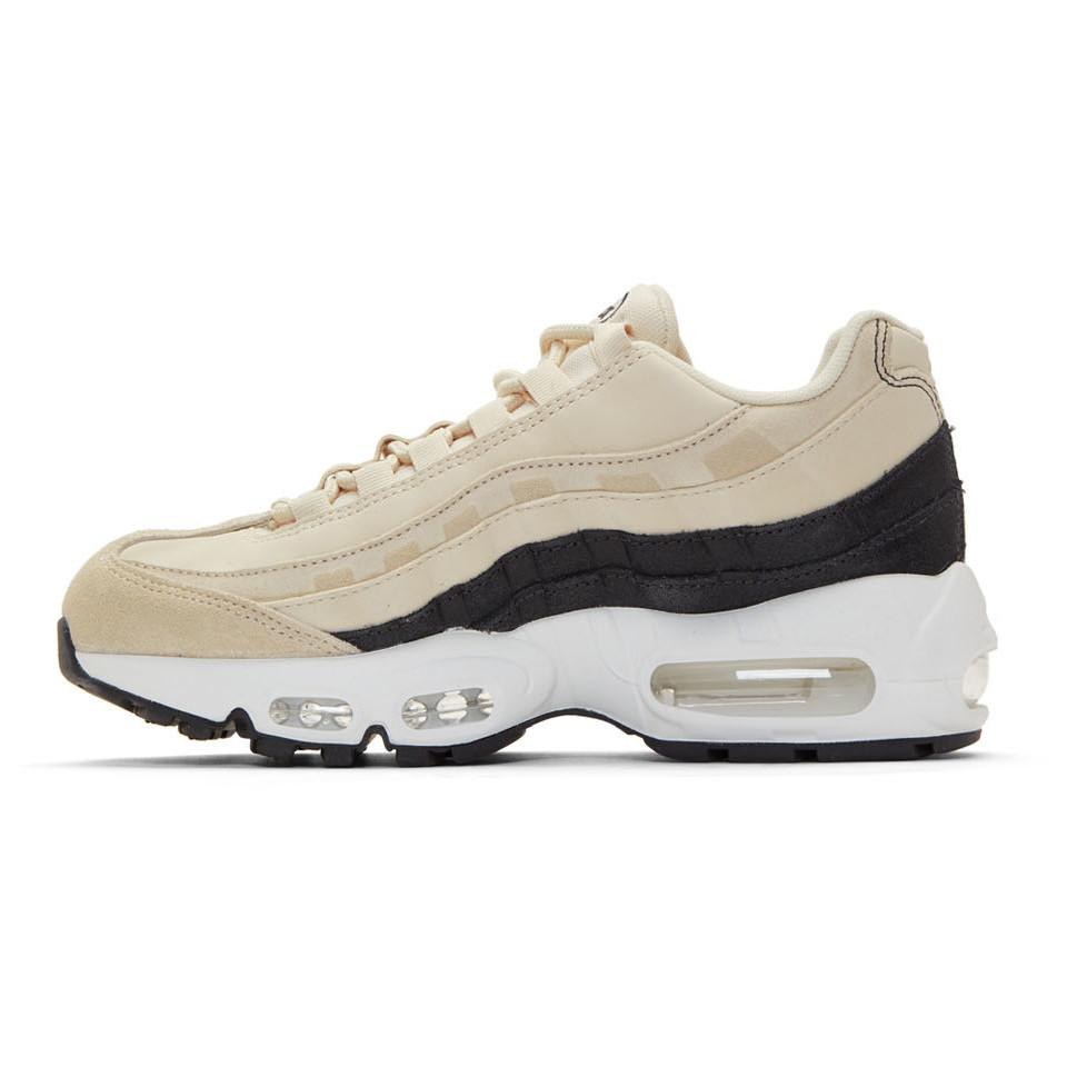 Nike Suede Beige And Grey Air Max 95 Sneakers in Cream (Gray) - Lyst