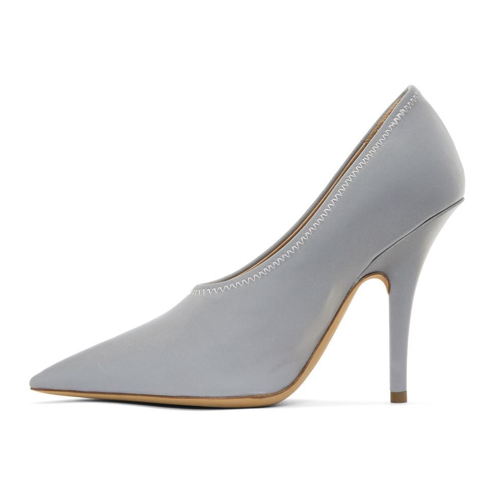 Vente Pas Cher Marchand Yeezy Grey Reflective Heels Large Gamme De Pas Cher En Ligne umaE7Bn