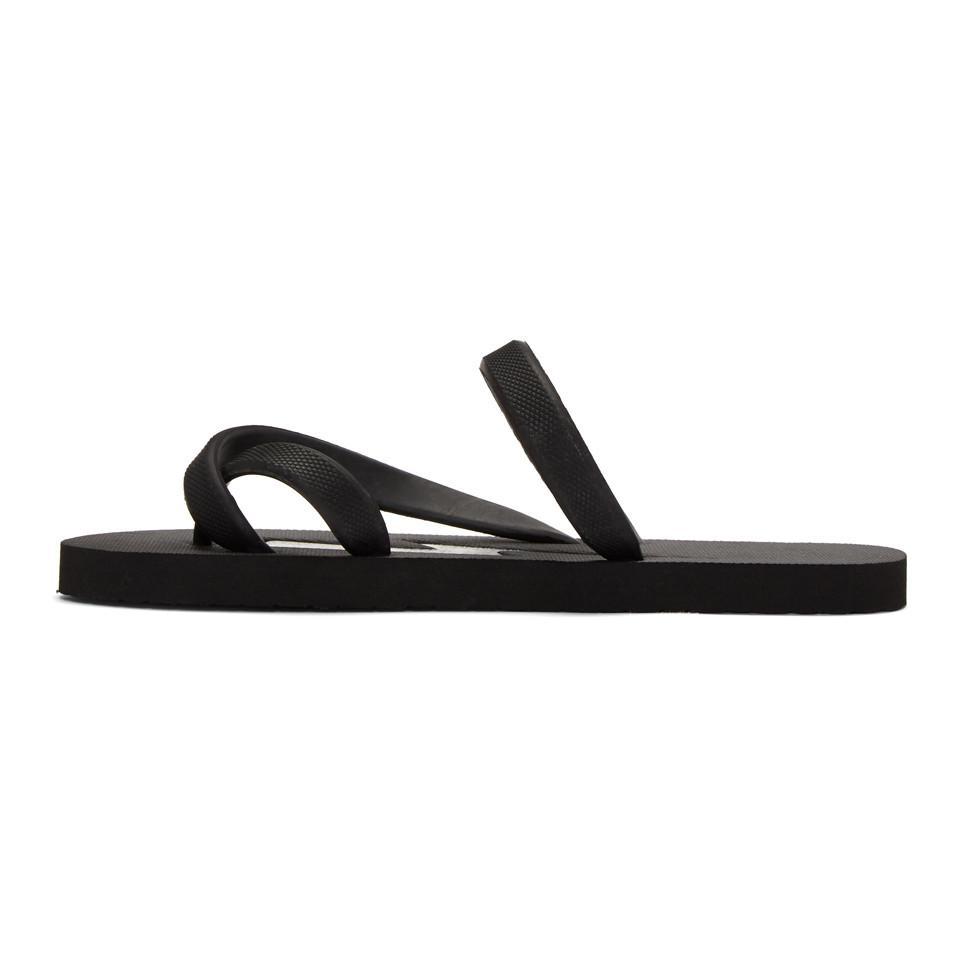 Neil Barrett & Rubber Thunderbolt Sandals