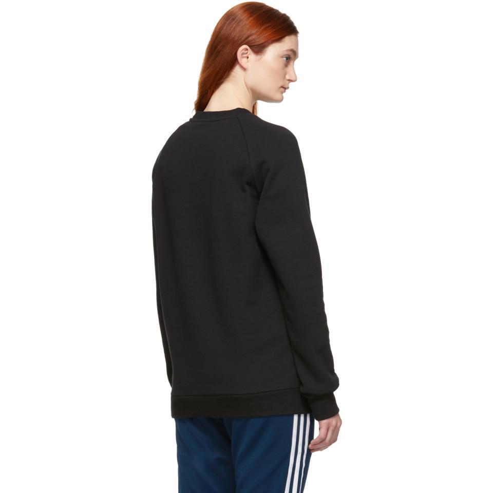 98a196caafeb3 adidas Originals Black Trefoil Warm-up Sweatshirt in Black - Save 26 ...