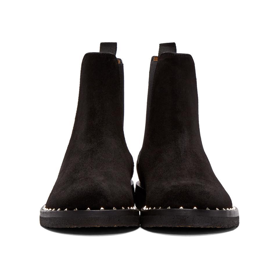 Valentino Garavani Suede Soul Rockstud Chelsea Boots wNFg3M