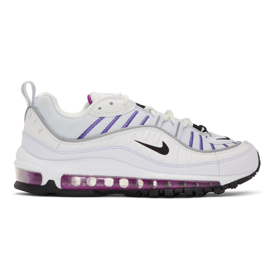 Baskets grises et blanches Air Max 98 Nike en coloris Gris - Lyst