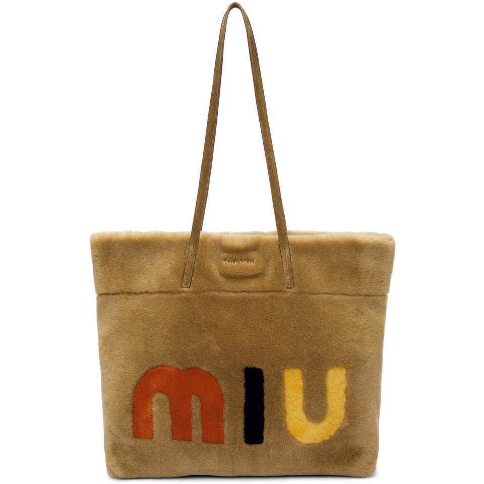 logo tote - Yellow & Orange Miu Miu okDL39PgE
