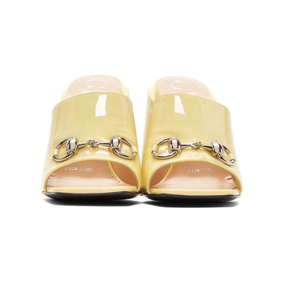 f06cefac07a Gucci - Multicolor Yellow Patent Lexi Horsebit Sandals - Lyst. View  fullscreen