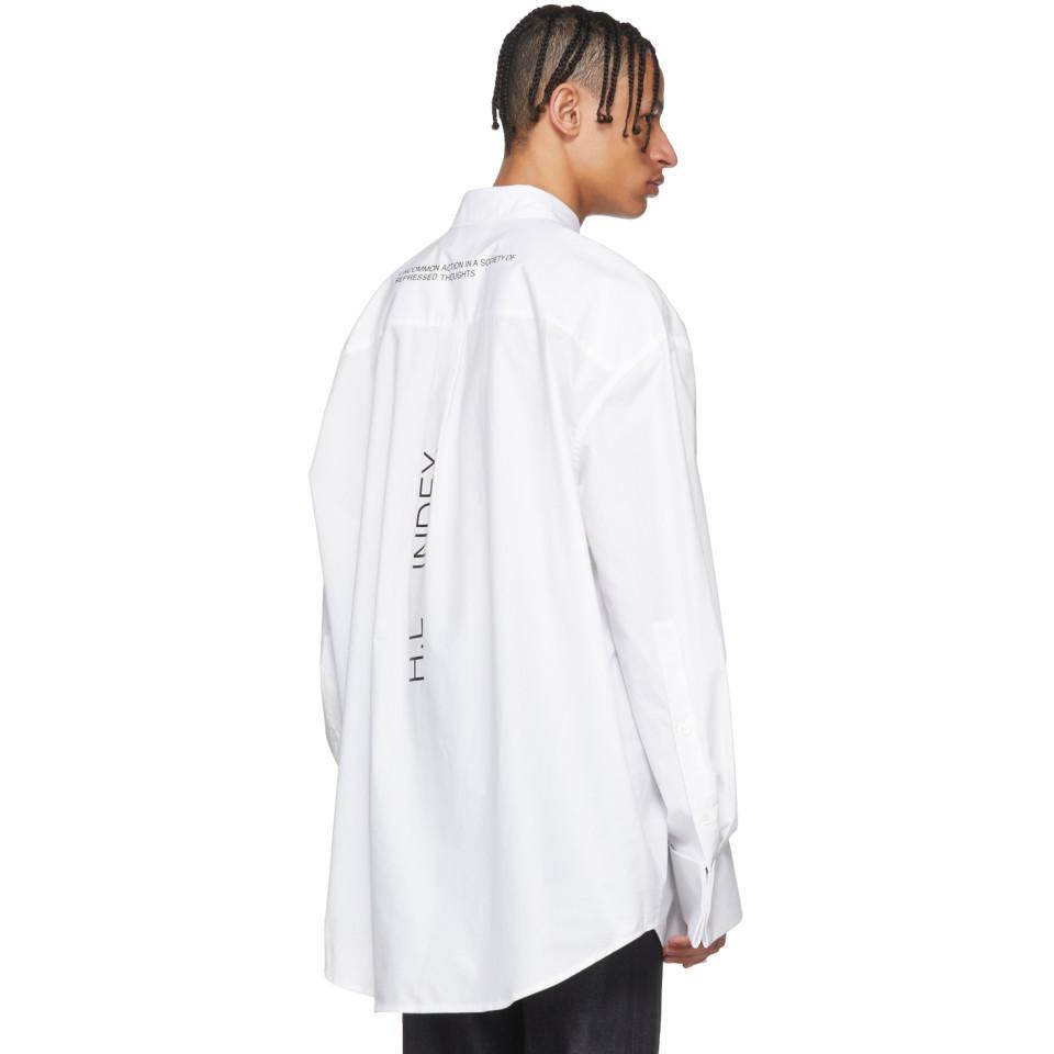 Helmut Lang Cotton White Shayne Oliver Index Shirt for Men