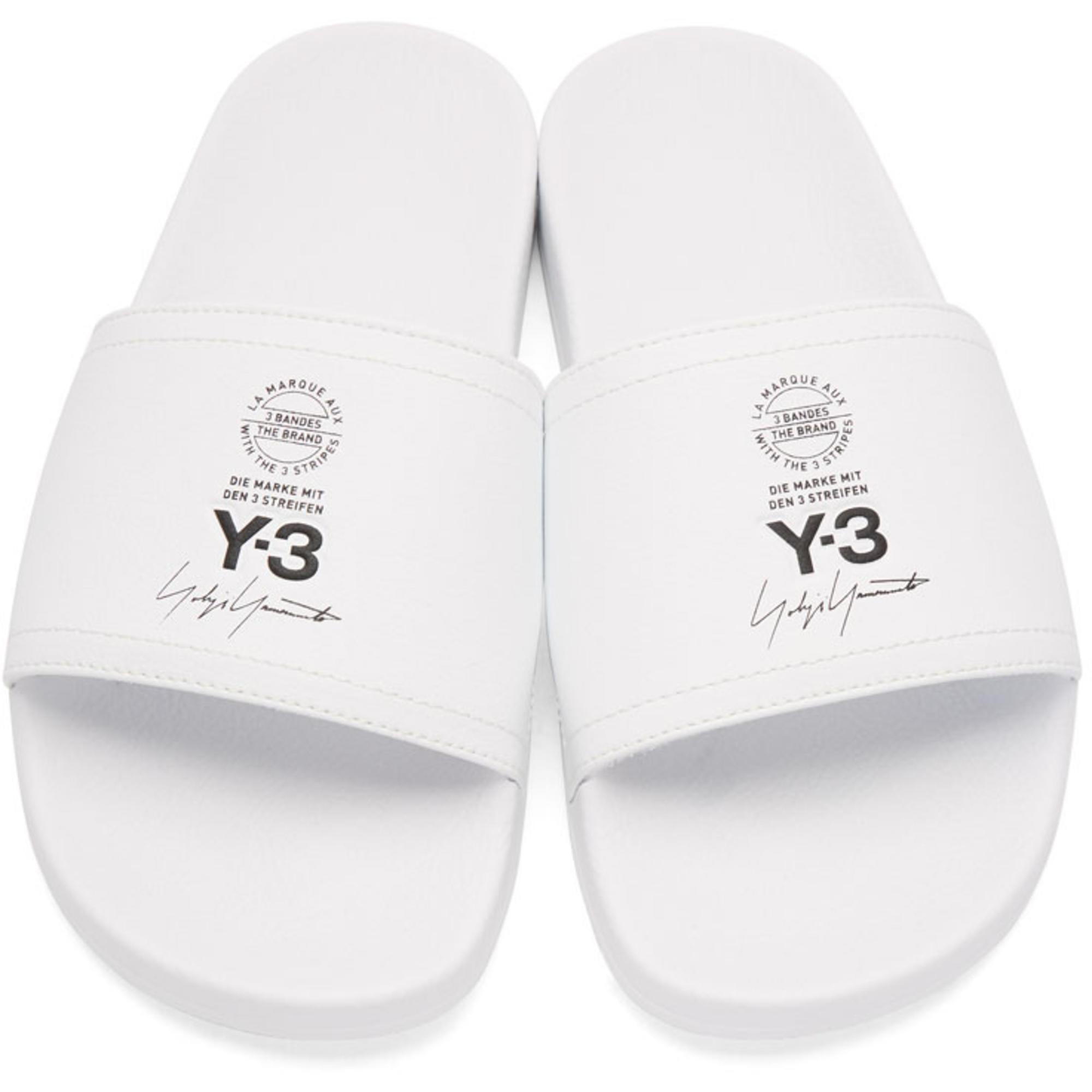 Vente Pas Cher Meilleur Endroit Y-3 White Leather Adilette Slides Achat Frais De Port Offerts Achats En Ligne En Ligne Vente Faux Frais De Port Offerts jVVZ9mI
