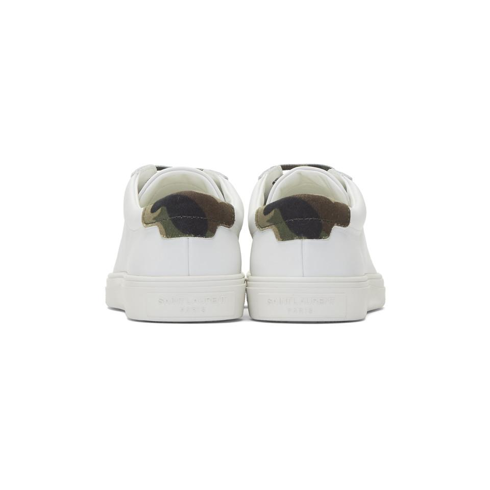 dd36173b Women's White Camouflage Print Andy Sneakers