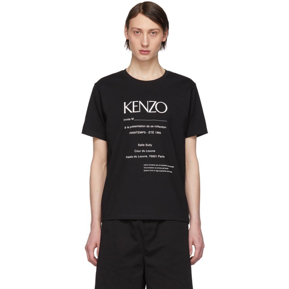 921740bc KENZO Black Vintage Classic Fit T-shirt in Black for Men - Lyst